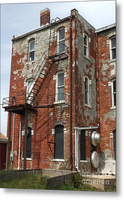 Old Brick Building In Downtown Montezuma Iowa - 03 Metal Print by Gregory Dyer