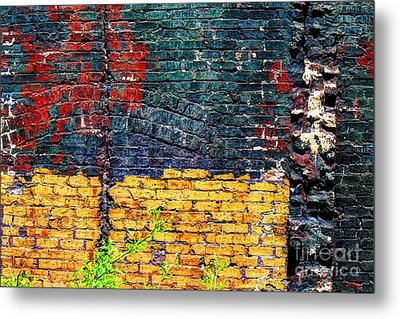 Old Brick Wall Metal Print by Jim Wright