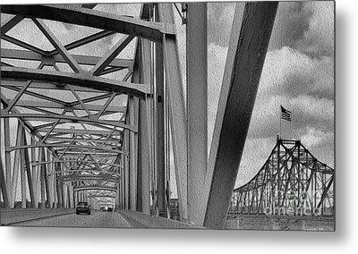 Metal Print featuring the photograph Old Bridge New Bridge by Janette Boyd