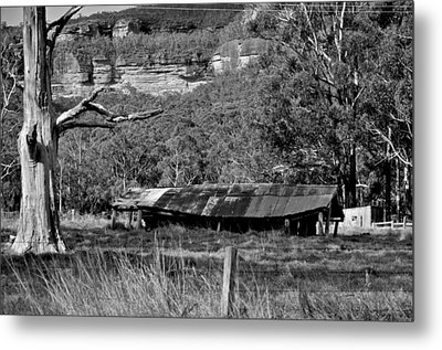 Old Bush Shed Metal Print by Marty  Cobcroft
