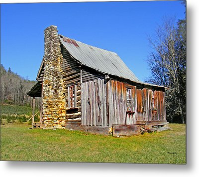 Old Cabin Along Macedonia Church Road Metal Print