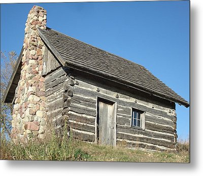 Old Cabin Metal Print by J L Zarek
