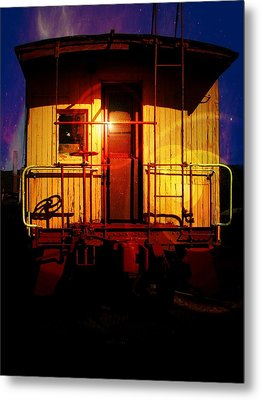 Aaron Berg Metal Print featuring the photograph Old Caboose  by Aaron Berg