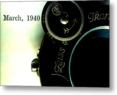 Metal Print featuring the photograph Old Camera by Michael Dohnalek