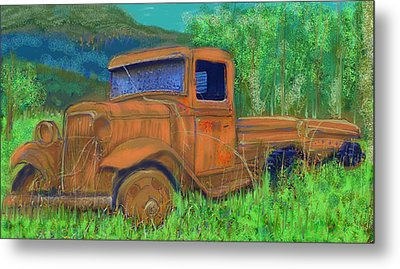 Old Canadian Truck Metal Print