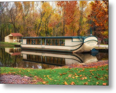 Old Canal Boat Metal Print