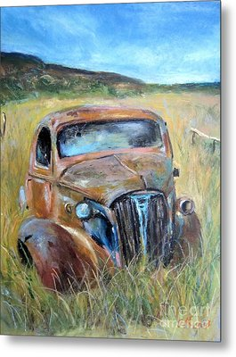 Metal Print featuring the painting Old Car by Jieming Wang