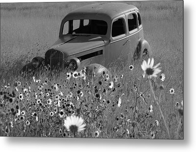Metal Print featuring the photograph Old Car by Leticia Latocki
