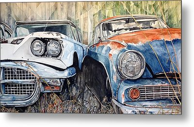Old Cars Metal Print by Lance Wurst