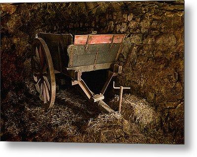 Old Cart Metal Print by Liz  Alderdice