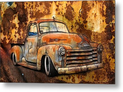 Old Chevy Rust Metal Print