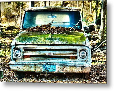 Old Chevy Truck Metal Print by Lorri Crossno