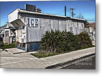 Old Chino Ice House Metal Print by Gregory Dyer