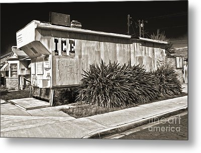 Old Chino Ice House - Sepia Toned Metal Print by Gregory Dyer