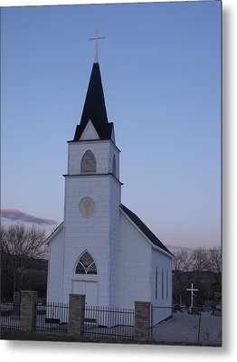 Old Church Metal Print by Yvette Pichette
