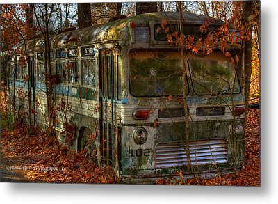Old City Bus Metal Print by Paul Herrmann
