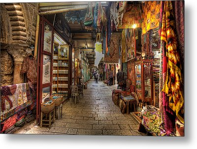 Metal Print featuring the photograph Old City Market by Uri Baruch