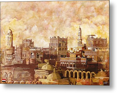 Old City Of Sanaa Metal Print by Catf