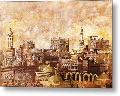 Old City Of Sanaa Metal Print by Corporate Art Task Force