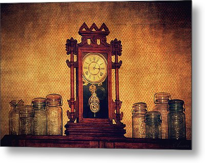 Old Clock Metal Print by Maria Angelica Maira