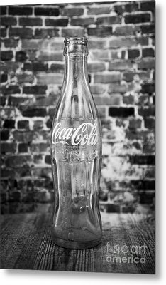 Old Cola Bottle Metal Print by Serene Maisey