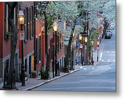 Old Colonial Brick Row Houses Of Beacon Hill Metal Print by Juergen Roth