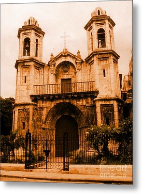 Old Colonial Church In Varadero Cuba Metal Print by John Malone