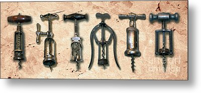 Old Corkscrews Painting Metal Print