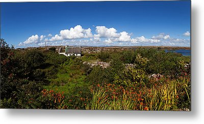 Old Cottage On Gorumna Island Metal Print by Panoramic Images