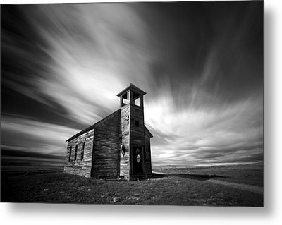 Old Cottonwood Church In Black And White Metal Print