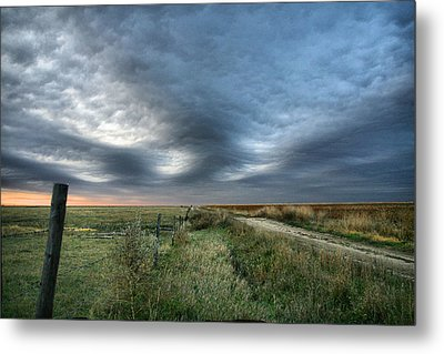 Metal Print featuring the photograph Old Country Road by Shirley Heier