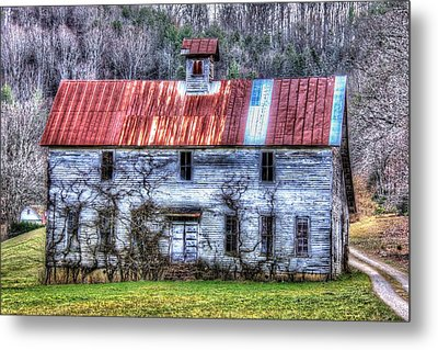 Old Country Schoolhouse Metal Print by Tom Culver