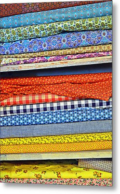 Old Country Store Fabrics Metal Print by Christine Till