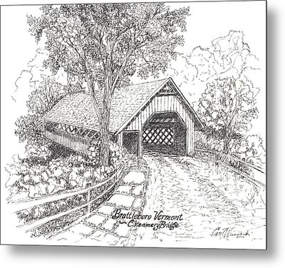 Old Creamery Bridge In Brattleboro Vermont Metal Print