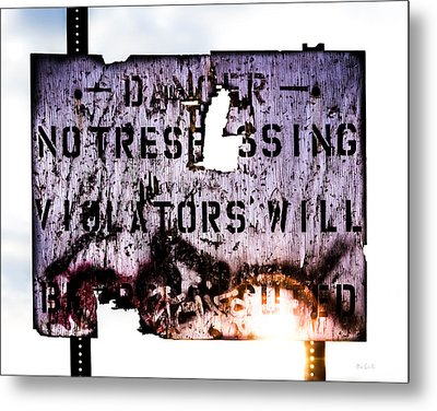Old Danger Metal Print