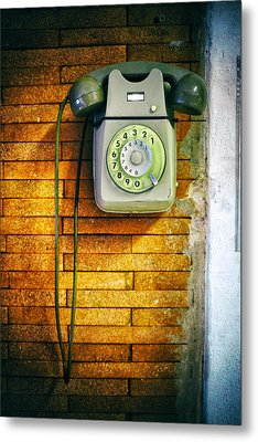 Metal Print featuring the photograph Old Dial Phone by Fabrizio Troiani