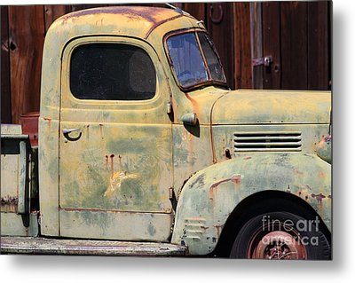 Old Dodge Truck 7d22382 Metal Print by Wingsdomain Art and Photography