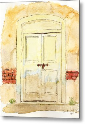 Old Door Metal Print by Keshava Shukla