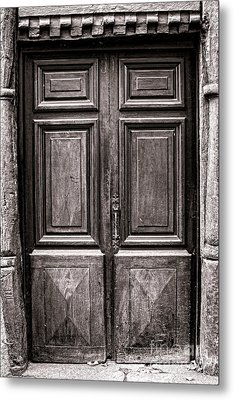 Old Door Metal Print by Olivier Le Queinec