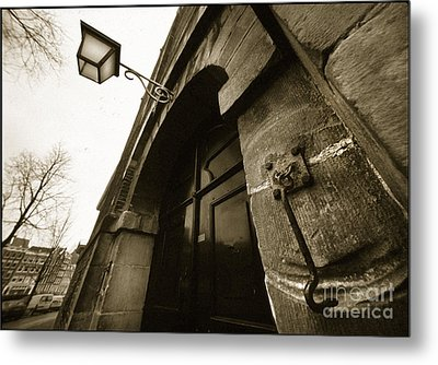 Metal Print featuring the photograph Old Doorway In Amsterdam by Michael Edwards