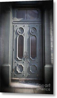Old Doorway Quebec City Metal Print by Edward Fielding