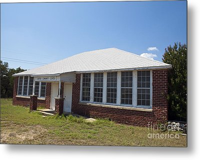 Old Duffau Schoolhouse Metal Print by Jason O Watson