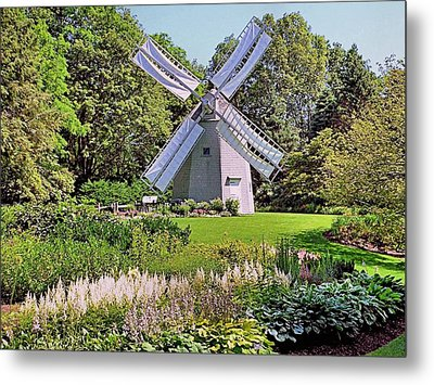 Metal Print featuring the photograph Old East Windmill  by Janice Drew