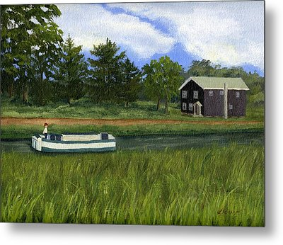 Metal Print featuring the painting Old Erie by Lynne Reichhart