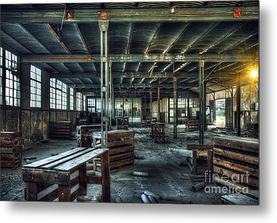 Old Factory Ruin Metal Print by Carlos Caetano