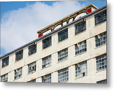Metal Print featuring the photograph Old Factory Under A Clear Blue Sky by Nick  Biemans
