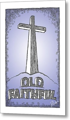 Old Faithful Metal Print by Jerry Ruffin