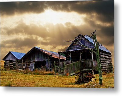 Metal Print featuring the photograph Old Farm House by B Wayne Mullins