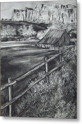 Old Farm House Metal Print by Laneea Tolley