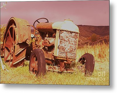 Old Farm Tractor  Metal Print by Jeff Swan